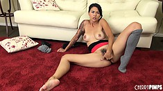 Naughty Asian gal Dana Vespoli loves playing with her sweet ass