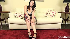 Noelle Easton is a naughty little girl in her short little dress