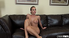 Nicole does a pretty hot striptease and shows off her butt and stuff