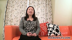 Lustful Asian milf with a pretty smile shares her wild sexual fantasies and desires