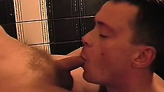 Naked massage gets out of control and turns into a gay threesome