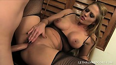 Seductive blonde lawyer Holly Heart knows what she wants and uses her body to get it