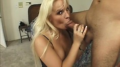 Gorgeous hot blonde model engages in out-of-control anal action