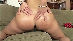 Insatiable voluptuous babe loves getting drilled until she squeals