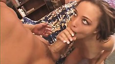 Dirty ethnic slut is eager to get drilled hard and shoot juices