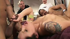 Horny Katrina Craven gets a workout by fucking Julian and Delvin