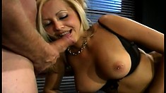 He's got this secretary working for him because her pussy is perfect
