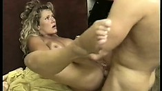 Naughty policeman and his lady partner get nasty in the offices