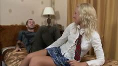 Healthy Teen Schoolgirl Heather Tries to Study But...