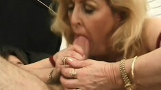 Mature starlet Kitty Fox juices a monumental rod of pleasure