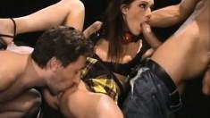 Taylor Rain gets a rough double penetration that makes her cum