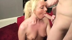 Playful young blonde enjoys having her delicious behind plowed