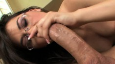 Insatiable young girl Kandi Milan can't stop bouncing on a long shaft