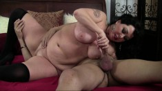 Dark-haired cougar Alexis wants to take it deep inside her curvy butt