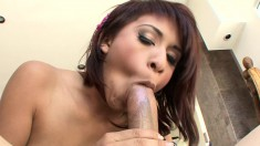 Zoey Bennett smiles and moans all through a balls deep dicking
