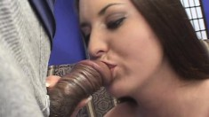 Beautiful girl with lovely boobs has a hard prick stretching her ass