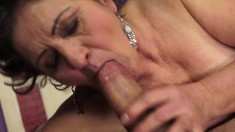Cock-loving granny knows how to choke on a massive jackhammer