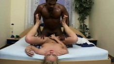 Blonde Gets Licked And He Gets Munched On Before He Drills Her Hole