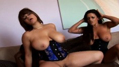 Alexis Silver and her bodacious girlfriend take turns on a black cock