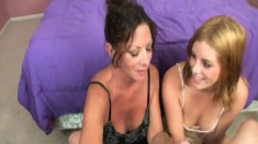 Margo And Breanna Putting Their Gifted Hands To Work On A Cock In Pov
