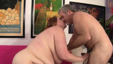 Curvy redhead cougar with huge tits gets nailed hard in every position
