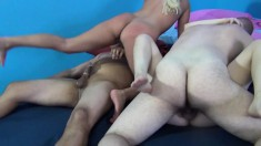 Wild girls Aaliyah and Tegan work their juicy slits on a raging pole