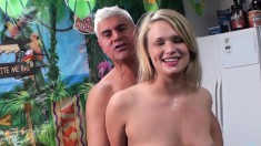 Cock Starving Blonde With Puffy Boobs Heather Starlet Toys Her Peach