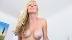 Hot Blonde Blows Him, Screws And Takes That Big Log Up Her Ass