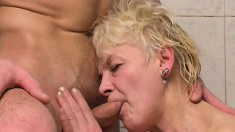 Horny Mature Lady Rubs Her Hairy Pussy