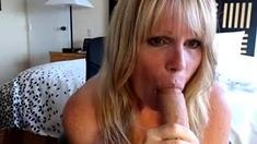 Mature blonde BBW Slut and her own hot boy toy