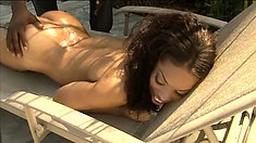 Hot ebony babe with big tits and a lovely booty Victory Phoenix loves black cock
