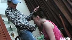 Terrific girl in blue cap Rita bangs tight slut named Rosalie A