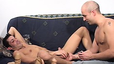 Fantastic gay beef cakes love to work each other with sexy toys