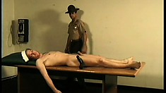 Dirty and horny sailor gives terrific head to his stoked colleague