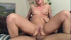 Blond Babe Loves Ass Fucking But His Is The Biggest She Ever Had