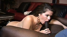 Buxom milf June Summers can't get enough of a black dick in her pussy