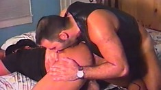 Gay bears sheriff stud shows the burly biker the subtle art of gay fucking