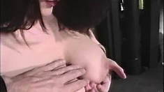 Ladies do some butt toying and are joined by a stiffy that joins the fun