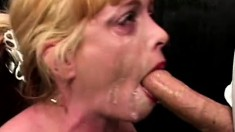 Squealing slut starts to cry as this big dick punishes her throat