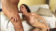 Hailey Young goes old with a sugar daddy rocking a humongous dick