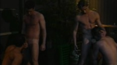 Six Handsome Dudes Have A Raw Orgy With Their Bareback Members