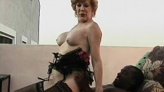 Mature Diane Richards gets a black dude pumping her old pussy