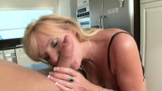 Voluptuous blonde wife Nina seduces a young stud to satisfy her needs