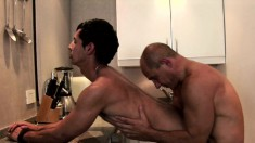 Horny stud Jesus Amado getting his ass drilled by his boyfriend Peko