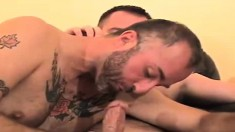 Inked stallion can't wait to thrust his cock into a handsome stud