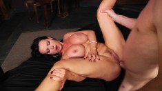 Voluptuous Nikki Benz takes every hard inch of dick up her anal hole
