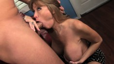 Busty MILF Darla Crane can't wait to let in this throbbing fun stick