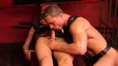 Two bondage fetishists exchange oral pleasures and indulge in anal sex