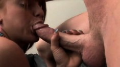 Busty redhead Erica gets toyed in the ass and fucked in the ass