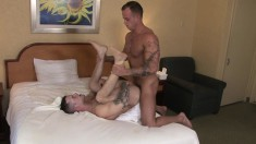 Hot Boys Quentin Gainz And Zack Matthews Enjoying Intense Anal Fucking